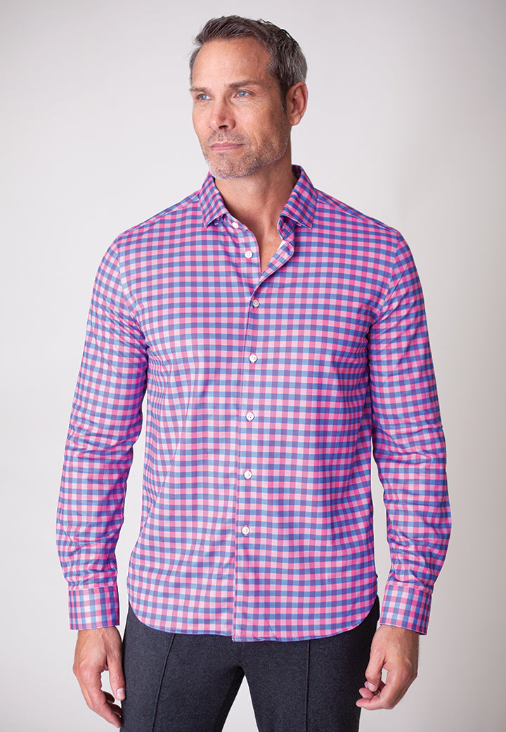 Buki's Eastcoast Plaid Shirt | Streamlined design with live-in-it comfort. Made with technical fabric to keep you dry and comfortable. | Men's Clothing | Men's Long Sleeve Button Down Shirt | Free Shipping