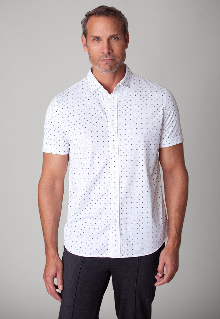 Buki's Boaty Shirt | Streamlined design with live-in-it comfort. Made with technical fabric to keep you dry and comfortable. | Men's Clothing | Men's Short Sleeve Button Front | Free Shipping