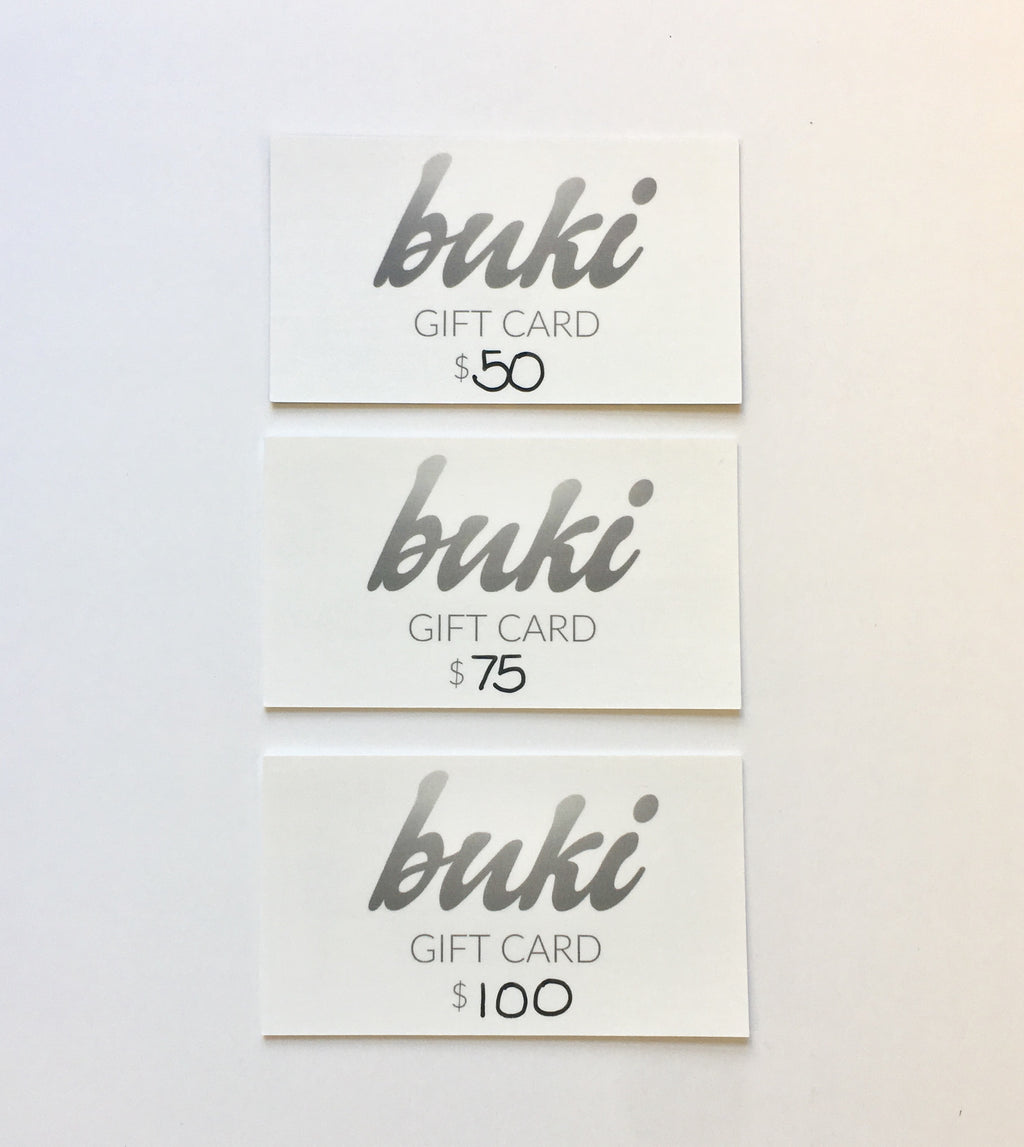 Give the gift of the wardrobe revolution with the Buki Gift Card.