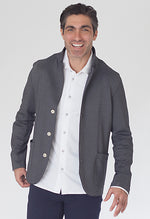 Buki's In-Flight Blazer is made with technical fabric for dynamic stretch and recovery. This 3-button blazer is perfect for travel and classic everyday wear | Free Shipping