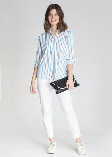 Buki's Button Front Women's Shirt | Janet Stripe Shirt