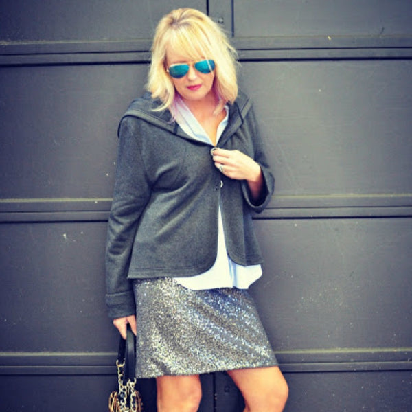Fashion Blogger @westfultonstreet in her Buki Hometown Hoodie