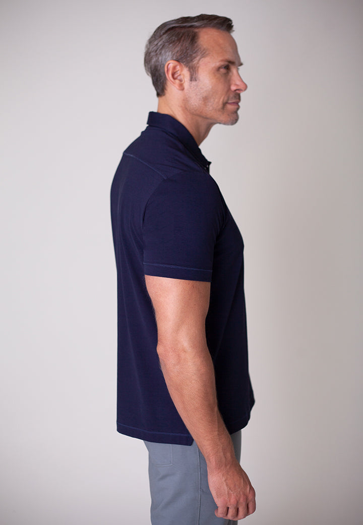 Buki Men's Coolest Polo | 2-layer construction designed to keep you dry and comfortable | Perfect for off-duty wear or a night on the town