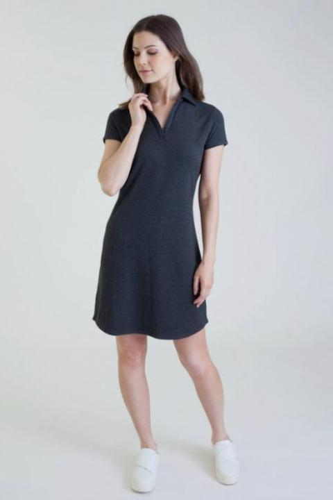 The Buki Women's Polo Dress is made with our Luxe Kinoki 3.0 technical fabric, giving it the perfect drape with the added bonus of perfect thermoregulating comfort