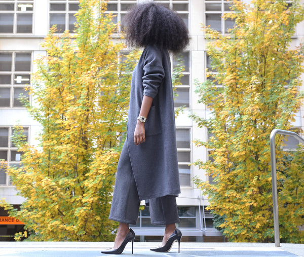 Fashion Blogger @iamababyssinia in her Buki Cocoon Coat