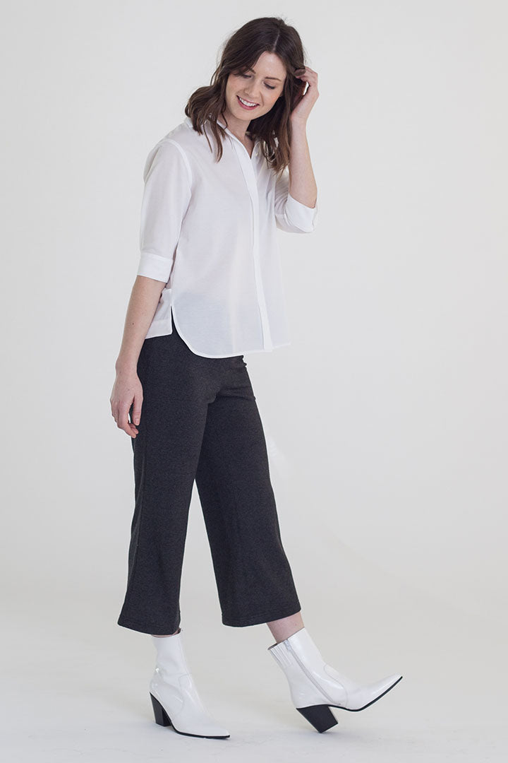 Buki's Swing Back Shirt looks like a classic Oxford button-down - but, it's made with our technical fabric for maximum comfort and a beautiful drape. Machine washable.