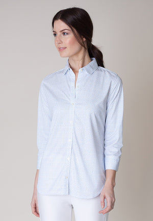 The Blue Ditsy shirt is the perfect combination of casual and business