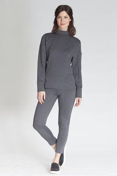 Buki's Mock Up Pullover: a long sleeved mock neck sweatshirt in our technical performance fabric.