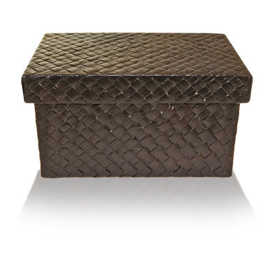 Black Rattan Box - Large
