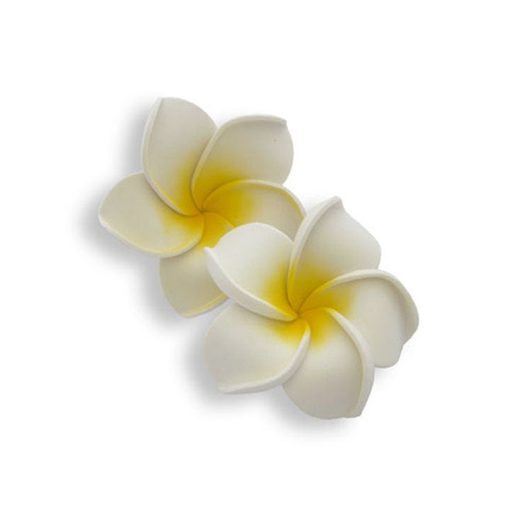 Floating Frangipani - White
