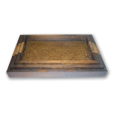 Set of 3 Woven Trays
