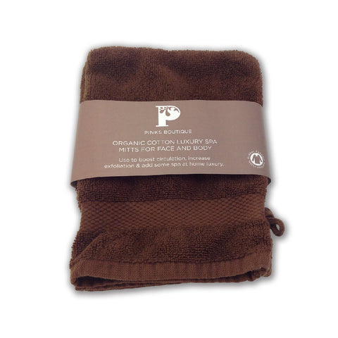 Organic Cotton Luxury Spa Mitts for Face and Body