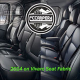 2014 on Vauxhall Vivaro and Fiat Talento Genuine OEM Fabric Material Cloth - Perfect match to front seats - CCCAMPERS