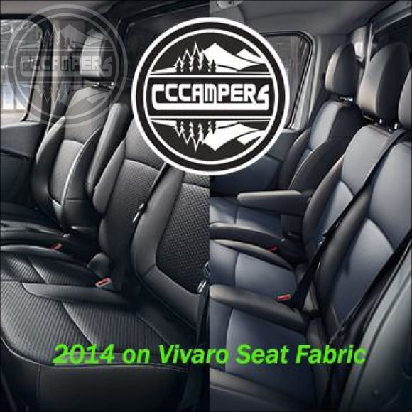 2014 on Vauxhall Vivaro and Fiat Talento Genuine OEM Fabric Material Cloth - Perfect match to front seats - OEM Fabric
