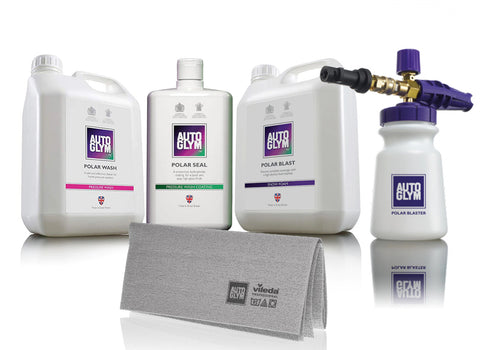 Autoglym Polar Blaster Snow Foam Gun, Polar Blast, Polar Wash and Polar Seal Starter Kit