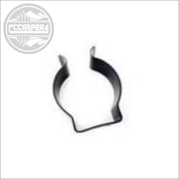 Black Coated Steel Table Leg Clip to suit 57mm Leg Pole - Table Legs & Supports