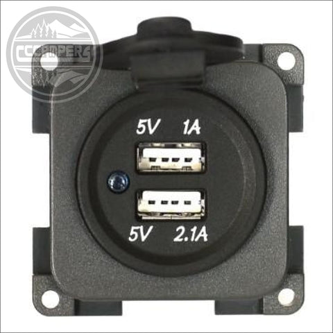 CBE 12v Twin USB Socket With Waterproof Cover - CCCAMPERS