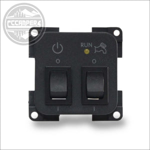 CBE Control Panel 12v System & 12v water pump on off Switches - cccampers.myshopify.com