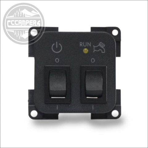 CBE Control Panel 12v System & 12v water pump on off Switches - CCCAMPERS