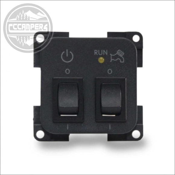 CBE Control Panel 12v System & 12v water pump on off Switches - 12V and 240V Components