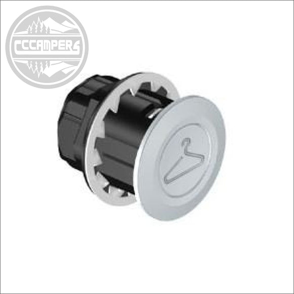 Coat Hook Pop Out / Push Button Hanger for Camper Campervan Caravan Motorhome - Internal Door Locks Knobs & Fittings