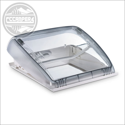 Dometic Mini Heki Style Roof Light - 400 x 400mm, Vented (Forced ventilation) / 43 – 60 mm - CCCAMPERS