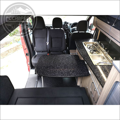 Double Twin Swivel Seat Base  fits Trafic, NV300 & Talento 2014 on - cccampers.myshopify.com