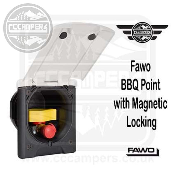 Fawo BBQ Point with Magnetic Locking - Exterior Inlets & Outlets