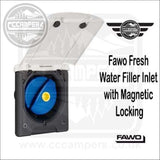 Fawo Fresh Water Filler Inlet Filler with Magnetic Closing and filler Cap Black - CCCAMPERS