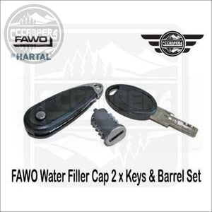 FAWO Water Filler Cap 2 x Keys & Barrel Set Also Fit Swift & Bailey Caravan Door Locks. - Exterior Inlets & Outlets