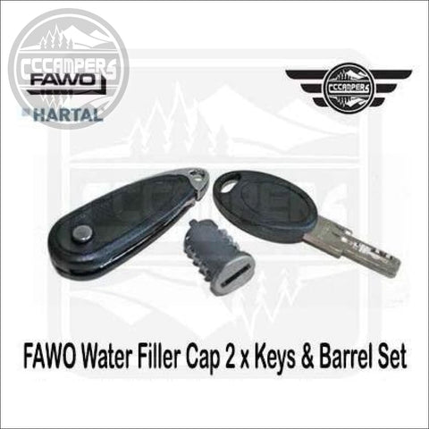 FAWO Water Filler Cap 2 x Keys & Barrel Set Also Fit Swift & Bailey Caravan Door Locks. - CCCAMPERS