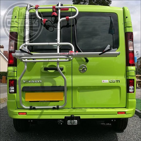 Fiamma Carry-Bike Renault Trafic Vivaro Talento NV300 Camper Van Bicycle Carrier for Double Doors only - CCCAMPERS