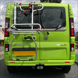 Fiamma Carry-Bike Renault Trafic Vivaro Talento NV300 Camper Van Bicycle Carrier for Double Doors only - cccampers.myshopify.com