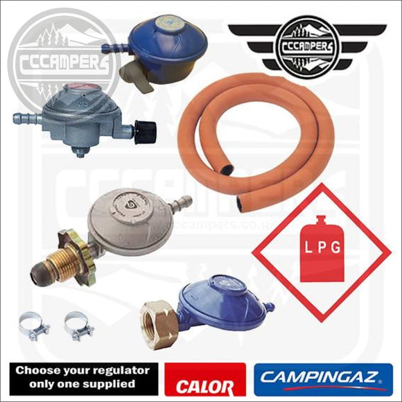 Flexible Pipe and Regulator Kit Campingaz Propane & Butane Calor bottles Camping Gas - Gas Components