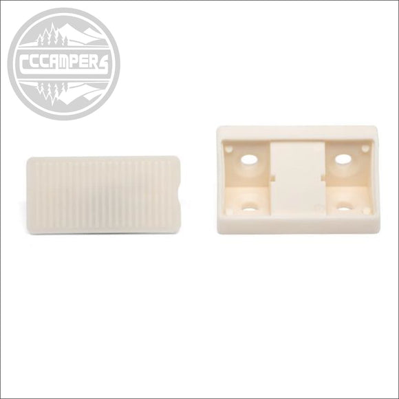 Ivory Corner Joint with Cover Conectors x 20 pcs - cccampers.myshopify.com