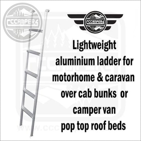 Lightweight aluminium ladder for motorhome & caravan over cab bunks or camper van pop top roof beds - cccampers.myshopify.com