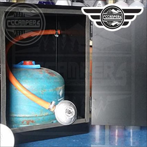 Metal Gas Cylinder Bottle Lockers that fit 904 Campingaz - cccampers.myshopify.com