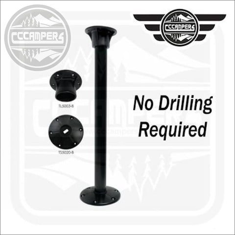 No hole drilling Black TABLE LEG SYSTEM by Redwood™ - cccampers.myshopify.com