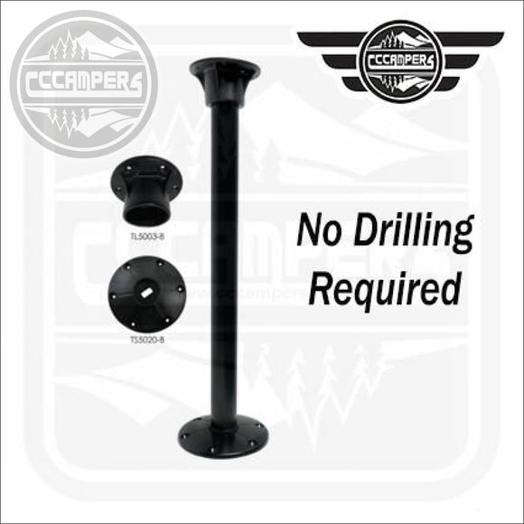 No hole drilling Black TABLE LEG SYSTEM by Redwood - Table Legs & Supports