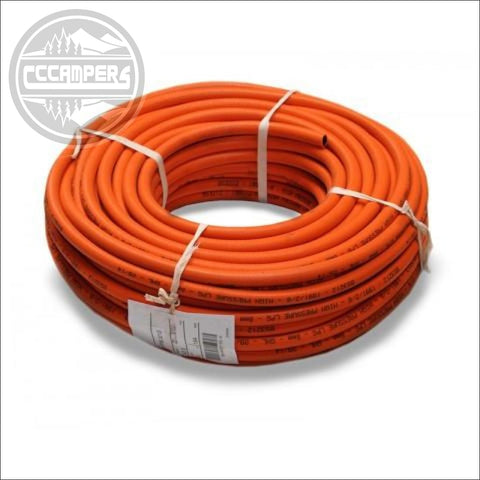 LPG Orange HP Gas hose.  Price per metre - CCCAMPERS