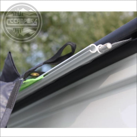 Outdoor Revolution Driveaway Awning Kit Ideal for fixing most awnings to a wind-out awning or fixed awning rails - CCCAMPERS