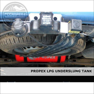 Propex Heatsource Underslung LPG Vapour Tanks Fully Fitted in a CCCAMPERS CONVERSION - LPG Gas Blown Air Heater