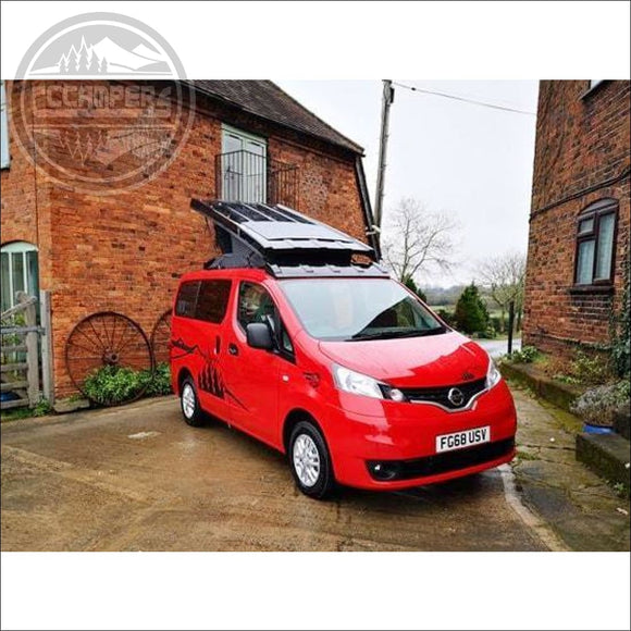 Stargaze Pop Top Elevating Roof For Nissan NV200 - cccampers.myshopify.com