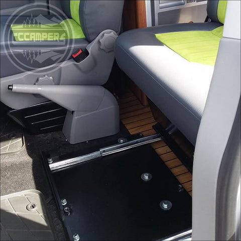 Volkswagen T5 T6 Transporter caravelle double swivel seat runners - CCCAMPERS