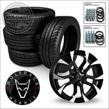 WOLFRACE ASSASSIN 18 load rated alloy wheel and tyre package 14> on Renault Trafic Vauxhall Vivaro Nissan NV300 & Fiat Talento - 18 / Black