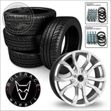 WOLFRACE ASSASSIN 18 load rated alloy wheel and tyre package 14> on Renault Trafic Vauxhall Vivaro Nissan NV300 & Fiat Talento - 18 / Silver