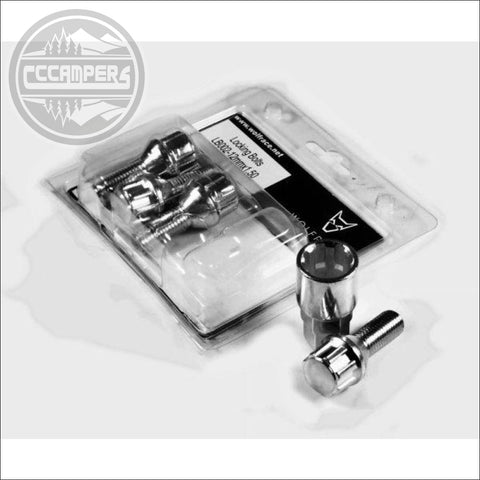 Wolfrace premium Locking Bolts/Nuts extra wheel security - cccampers.myshopify.com