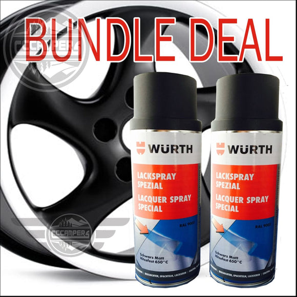 WURTH German Alloy Wheel Black Paint Kit