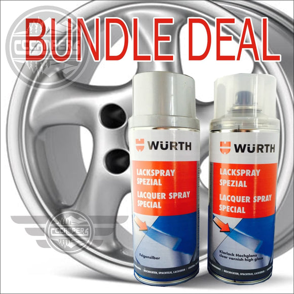 WURTH German Alloy Wheel Silver Paint Kit - CCCAMPERS