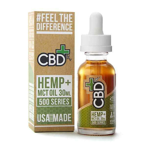 CBDfx CBD Hemp + MCT Oil Tincture - 500mg